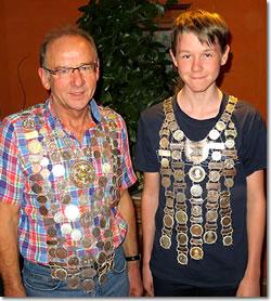 Schützenkönig Beitz Rudi und Jugend Schützenkönig Mayer Simon
